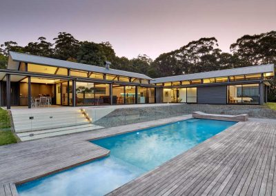 Kangaroo Valley External Pool Area Dusk